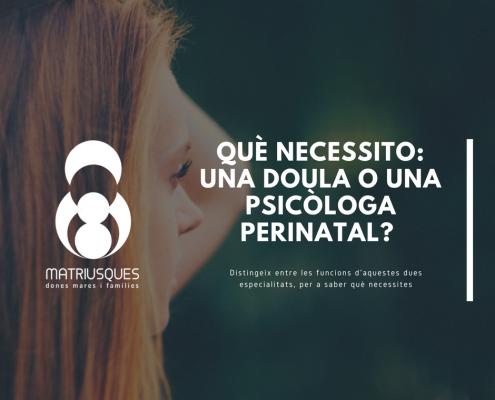 Doula o Psicòloga Perinatal